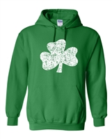 St. Patrick's Day Distressed Shamrock HOODIE (1581)
