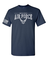 US Airforce Logo With Flag on Sleeve Men's T-Shirt (1660)