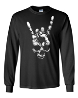 Skeleton Rock Sign Halloween Men's LONG SLEEVE T-Shirt (1677)