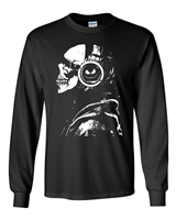 Skeleton With Headphones Halloween Men's LONG SLEEVE T-Shirt (1676)