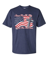 Stand For The Flag Kneel For The Cross Men's T-Shirt (1692)