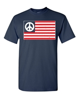 American Peace Flag 2 Colors Let's All Get Along Men's T-Shirt (1694)