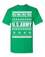 US Army Ugly Sweater Design Christmas Men's T-Shirt (1709)