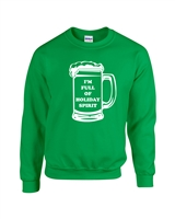 I'm Full of Holiday Spirit Beer Mug Christmas Unisex Crew Sweatshirt (1715)