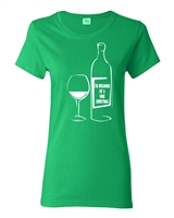 I'm Dreaming of a Wine Christmas Junior Fit Ladies T-Shirt (1716)