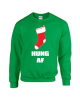 Hung AF Christmas Stocking Unisex Crew Sweatshirt  (1720)