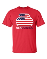 United States Curling Team Men's T-Shirt (1737)