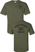 Navy Seal Team-10 Front & Back Men's T-Shirt (726)