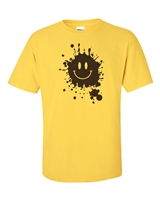 Smiley Face with Mud Splatter Men's T-Shirt (661)
