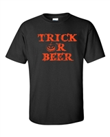 Trick or Beer Pumpkin Halloween Men's T-Shirt (339)