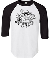 Spencer Anthony Monsters Raglan 3/4 Sleeve T-Shirt (245TC)