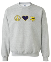 St. Veronica Peace/Love Crew Sweatshirt (#2 NEW)