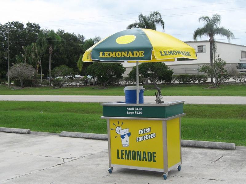 used 4ft lemonade push cart
