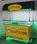 "Lemonade Cart 72"" x 30"" with Awning & LED Lights"