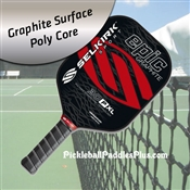 Pickleball Paddle 30P-XL Epic Graphite Crimson Coal