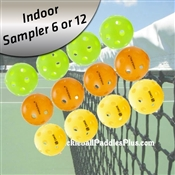 Pickleball Balls Indoor Sampler Pack Of 12