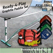 Champion Pickleball Paddle Set of 4 with Net