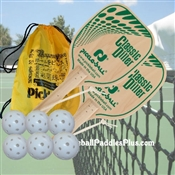 Diller Wood Pickleball Paddle Team Set of Two