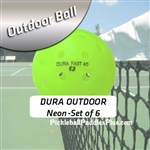 Pickleball Balls Dura Outdoor Neon Six Pack