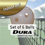 Pickleball Balls Dura Indoor White Six Pack
