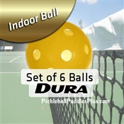 Pickleball Balls Dura Indoor Yellow Six Pack