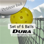 Pickleball Balls Dura Outdoor Yellow Six Pack