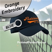 Pickleball Hat Orange Pickleball Logo Blue Hat