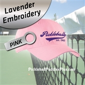 Pickleball Hat Lavender Pickleball Logo Pink Hat
