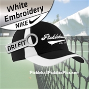 Pickleball Nike Dri Fit Hat Black with White Trim