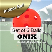 Pickleball Balls Onix Indoor Red Six Pack