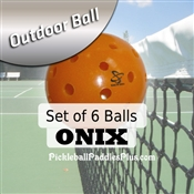 Pickleball Balls Onix Outdoor Orange Six Pack