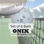 Pickleball Balls Onix Outdoor White Six Pack