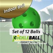 Pickleball Balls Pickleball Now Indoor Green 12-Pack