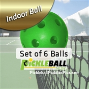 Pickleball Balls Pickleball Now Indoor Green 6 Pack
