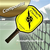 Black on Yellow Classic Composite Paddle