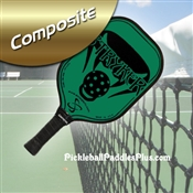 Black on Green Stryker Composite Paddle