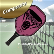 Black on Pink Stryker Composite Paddle
