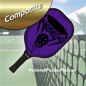 Black on Purple Stryker Composite Paddle