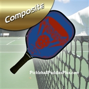 Red on Blue Stryker Composite Paddle