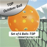 Pickleball Balls TOP Outdoor Orange Six Pack