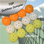 Pickleball Balls Outdoor TOP Sampler Pack Of 12
