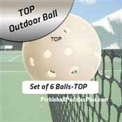 Pickleball Balls TOP Outdoor White Six Pack
