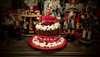 Santa's Hat Italian Christmas Cake with Elf on the Shelf