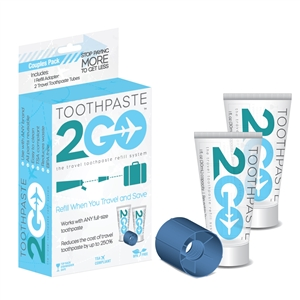Toothpaste 2 Go Travel Toothpaste Refill System for Couples