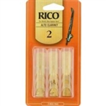 Rico 3 Pack Alto Clarinet Reed