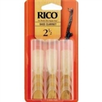 Rico 3 Pack Bass Clarinet Reed