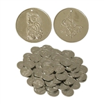 Nickled Brass Coins, Large, 35mm, 100 Ct