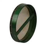 "Bodhran, 18""x3.5"", Fixed, Green, Single"