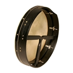 "Bodhran, 16""x3.5"", Tune, Black, T-Bar"