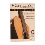 Fret Dots, Non-Permanent, Kling-On, 10 p
